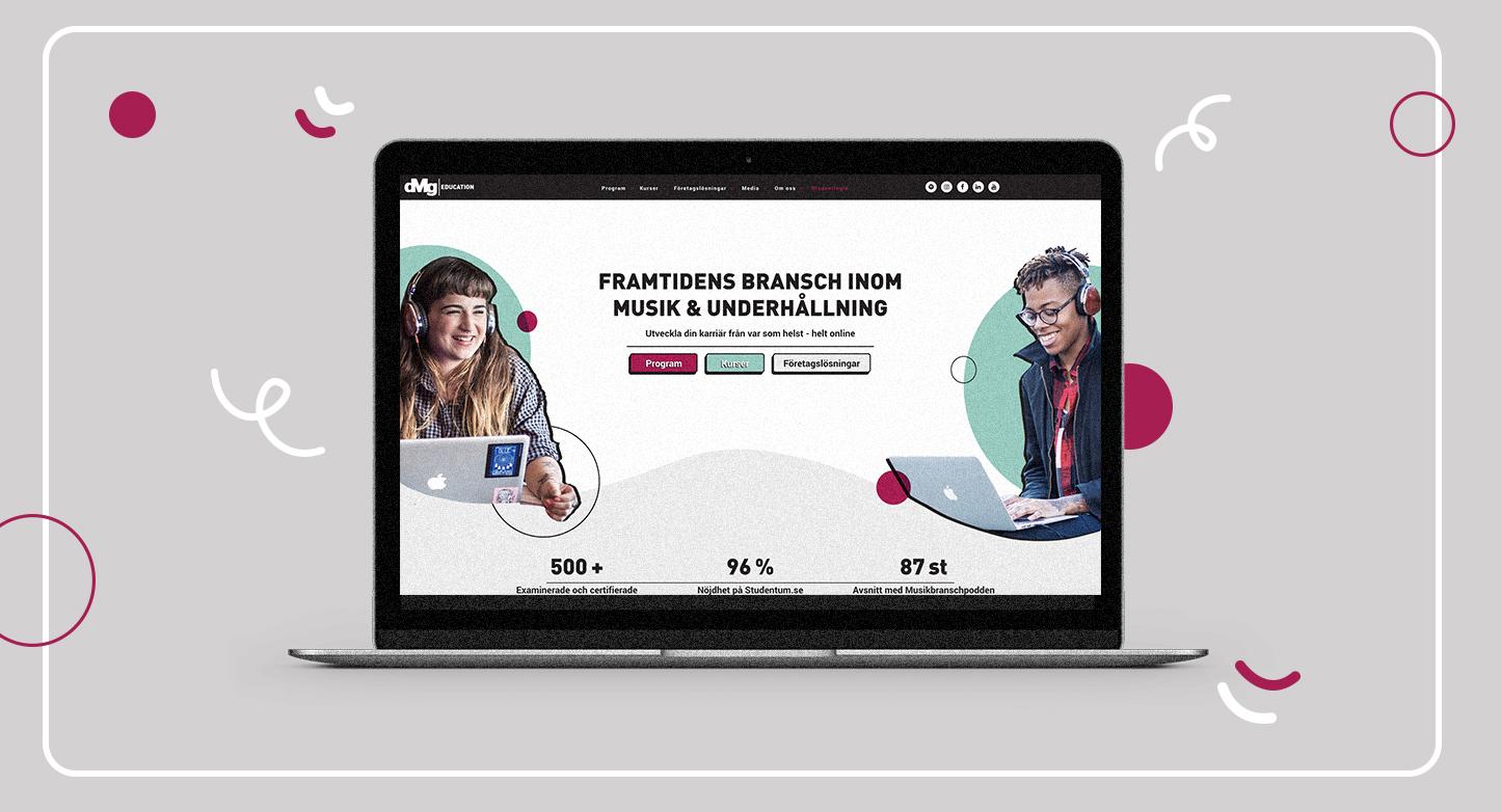 DMG får ny hemsida: Speglar växande varumärke i musik- och underhållningsbranschen